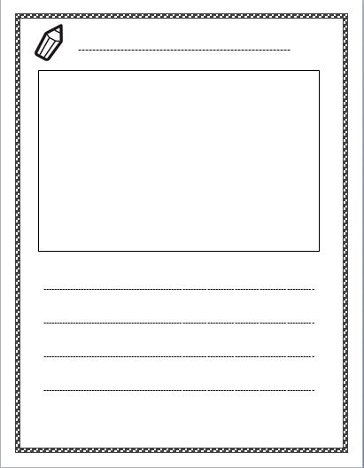 Preschool Journal Writing Template : Kindergarten Journal Writing ...
