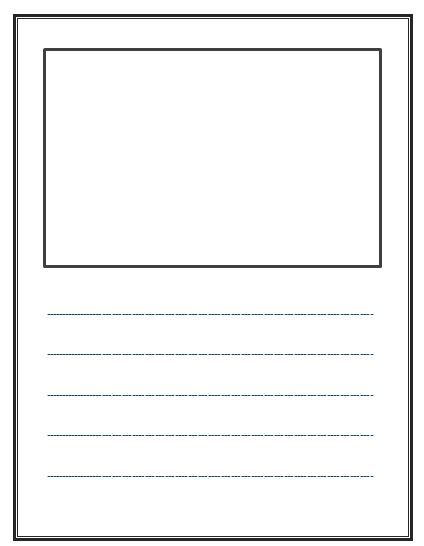blank writing paper for kindergarten