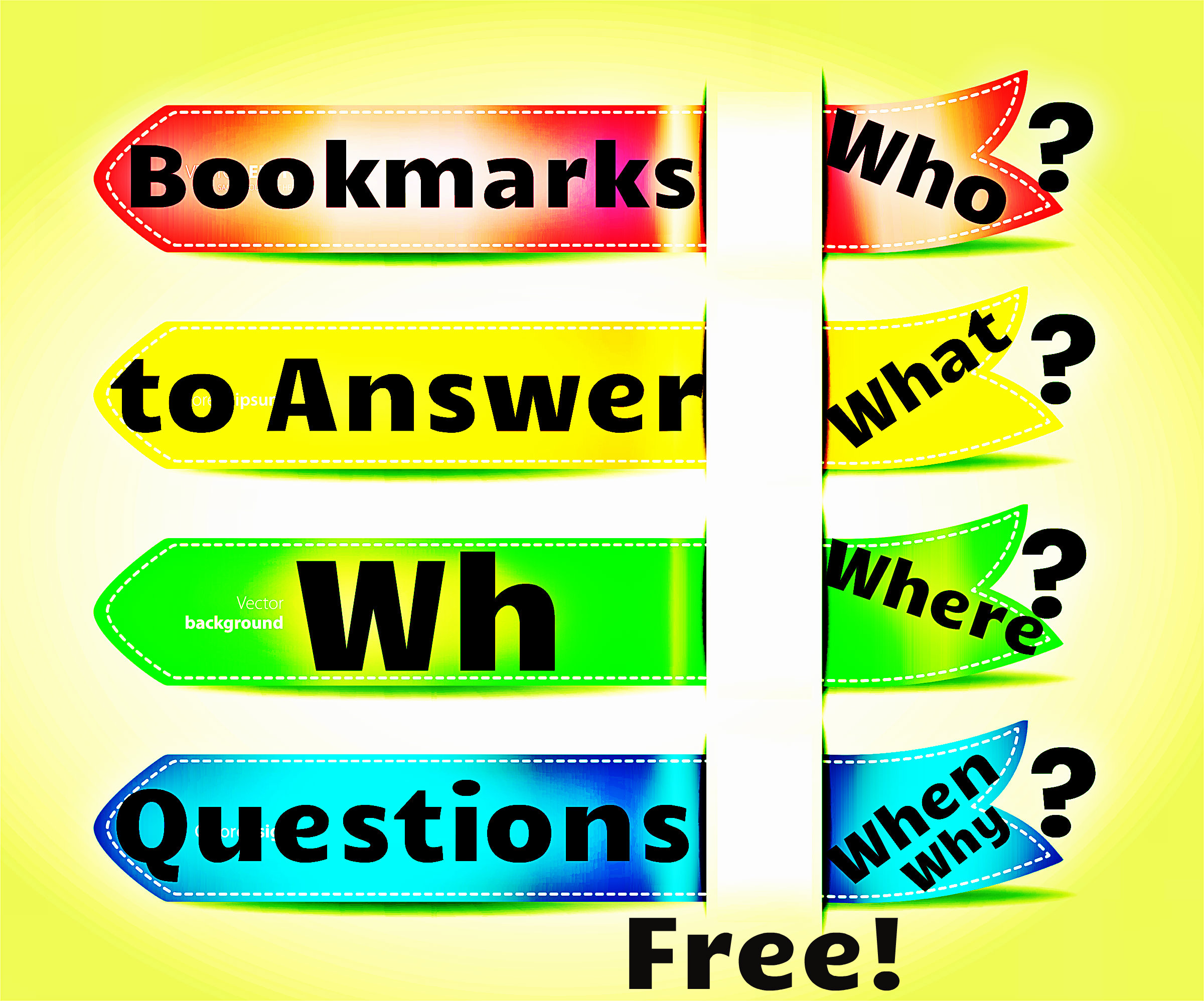 Bookmarks to answer wh questions.