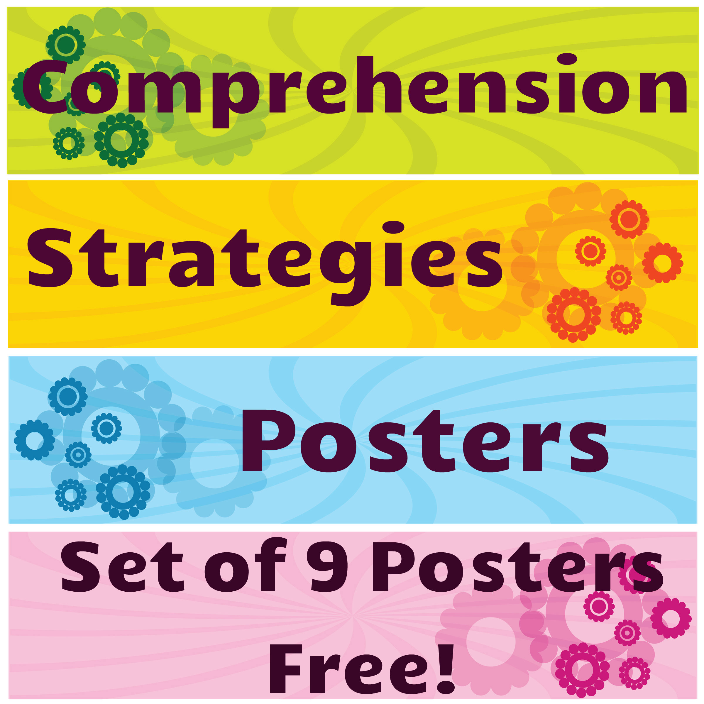 - Free Comprehension Strategies Posters Reading Comprehension