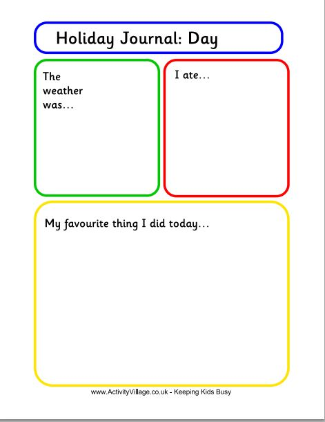 Free Journal Writing Pages| Holiday Journal Template for Kids ...