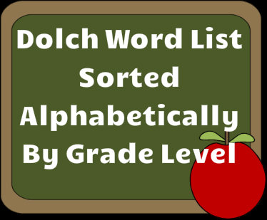Dolch Word List