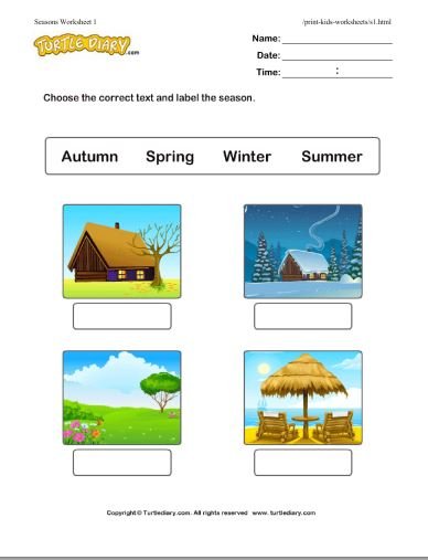 Four Seasons Printables