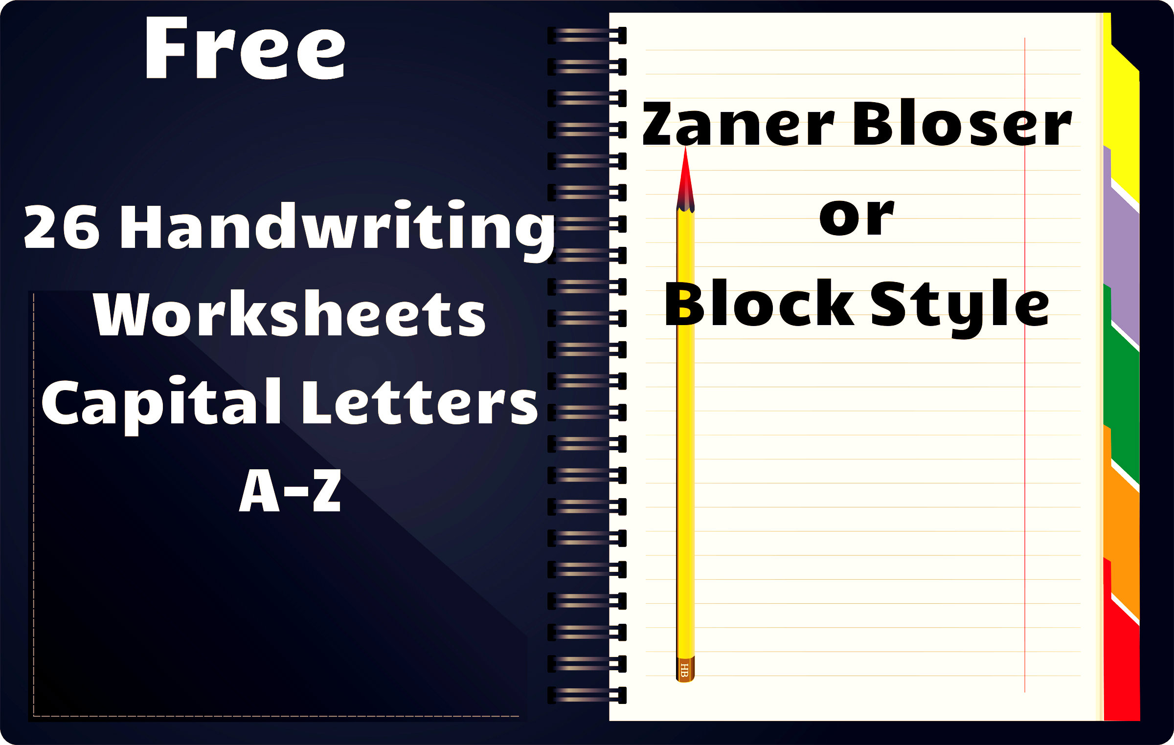 Printables Zaner Bloser Handwriting Worksheets free handwriting worksheets a z capital zaner bloser style