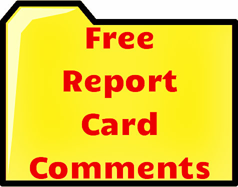 Free report card comments