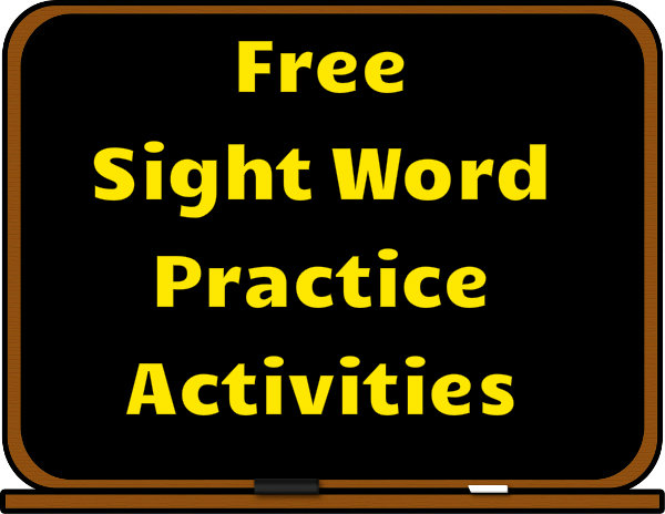 Free sight word practice activities