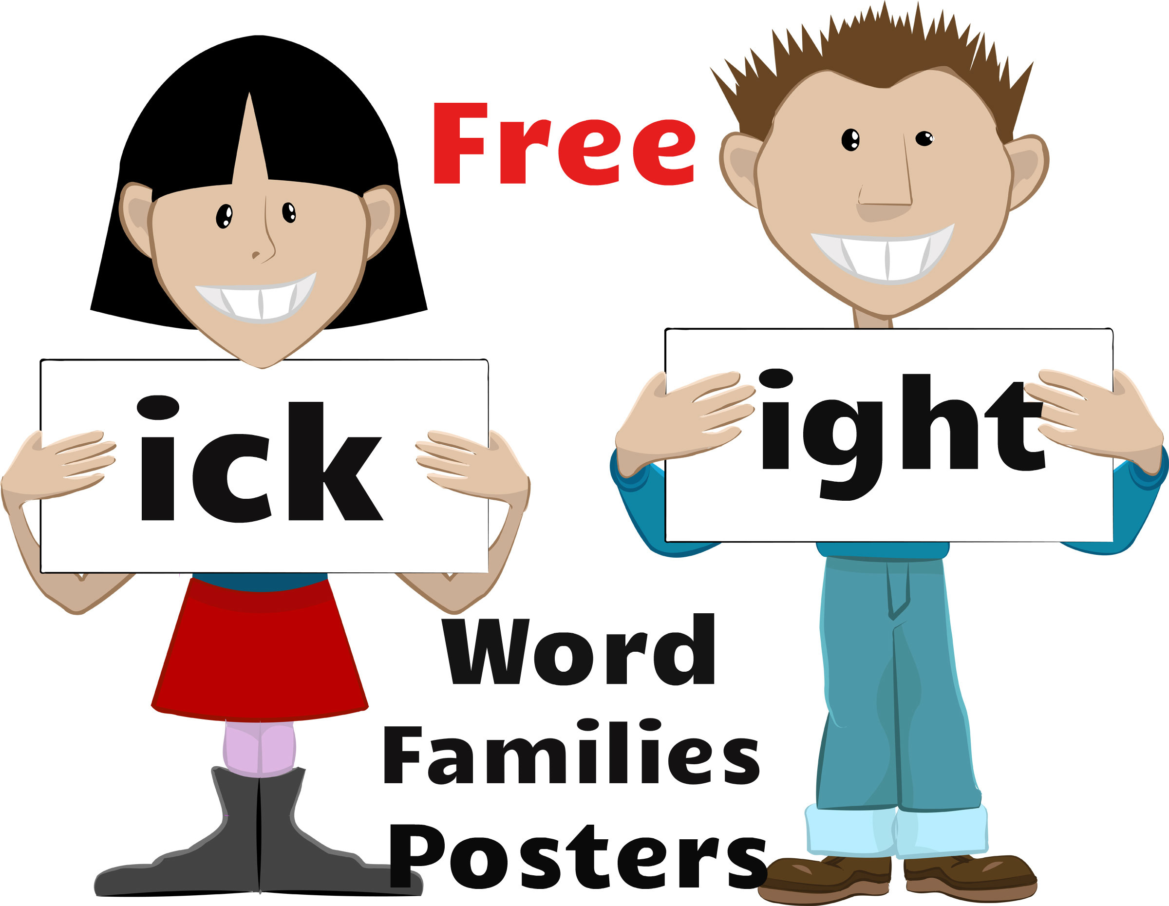 Free word families posters.