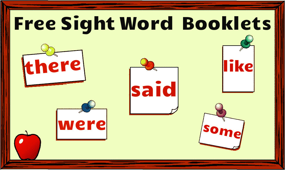 Free sight word booklets