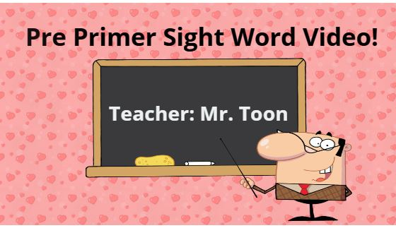 Fun sight word video to practice sight word reading.