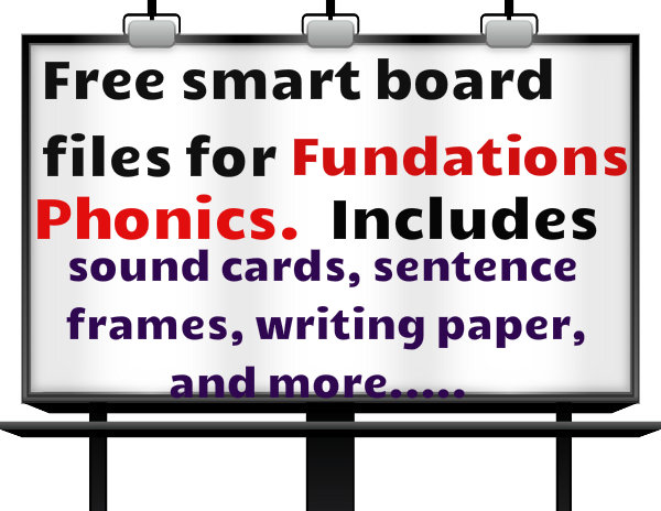 Free Fundations Phonics Cards