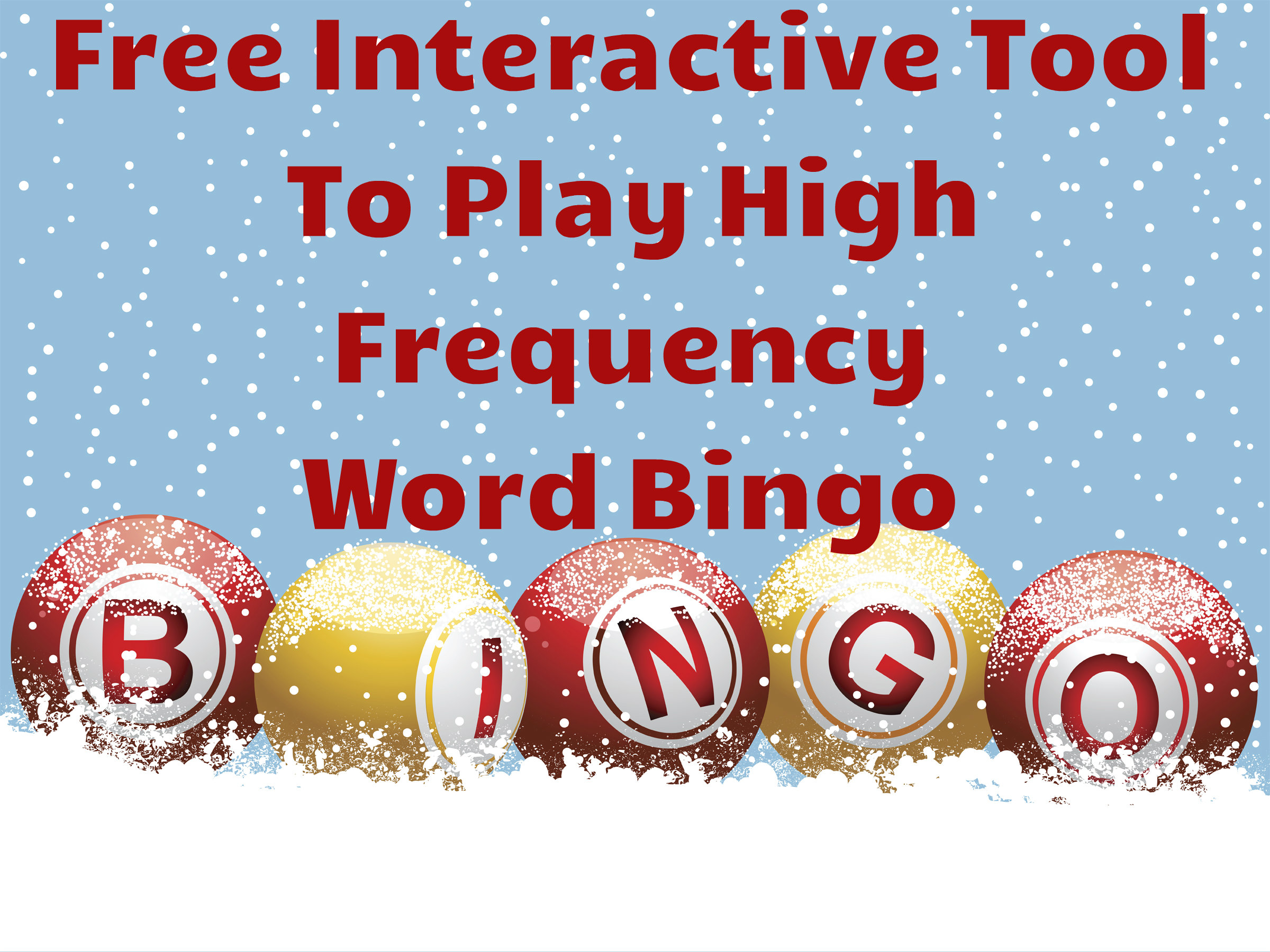 High Frequency Word Bingo