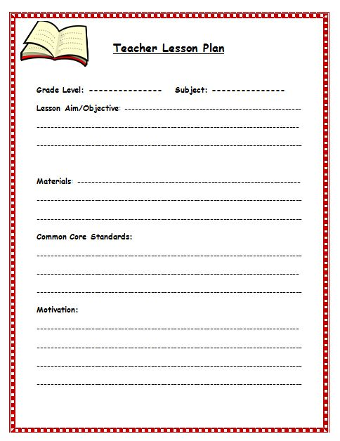Free Lesson Plan Template Lesson Plan Template For Teachers