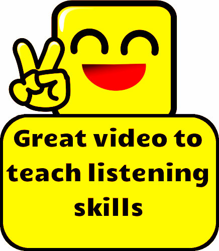 Great video to teach listening skills