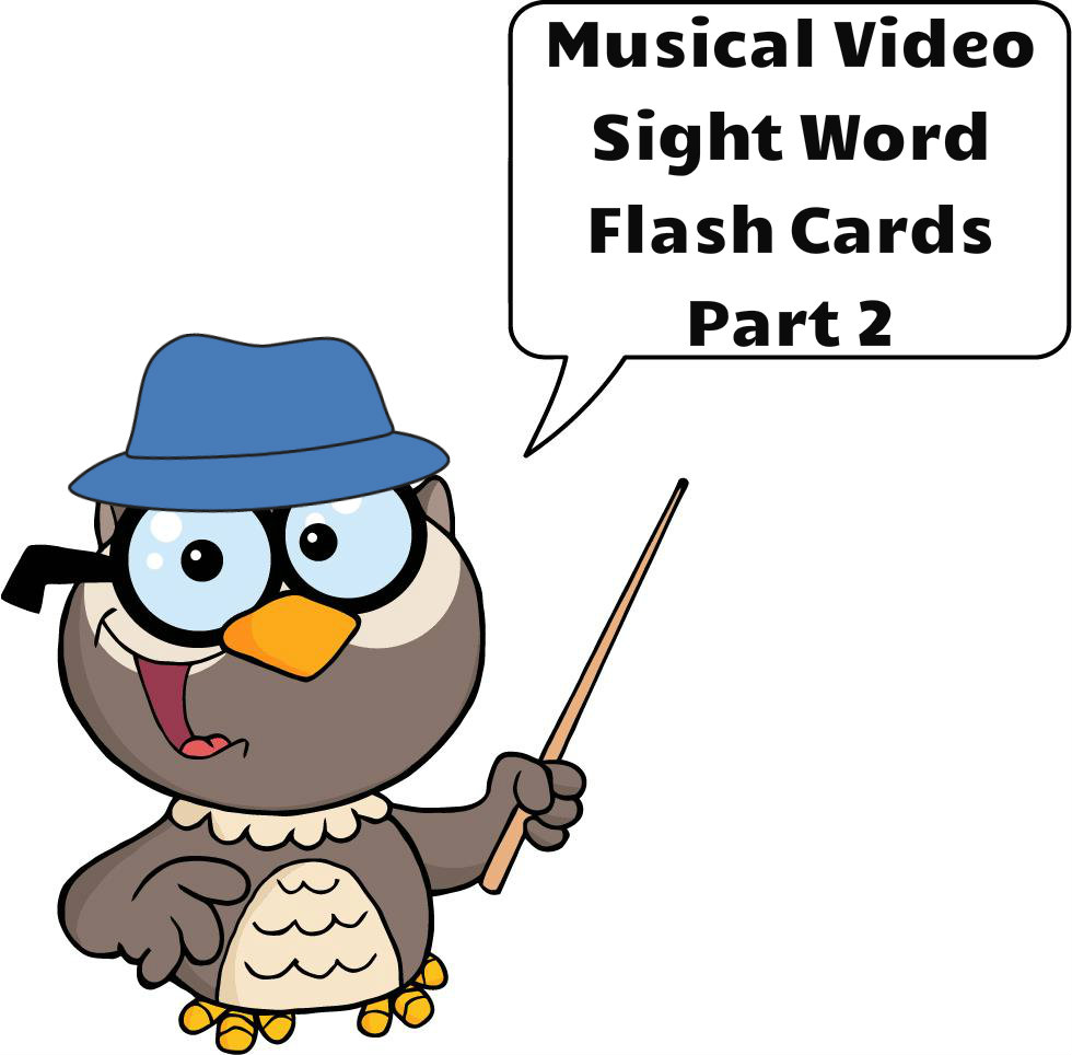 Musical Video Sight Word Flash Cards