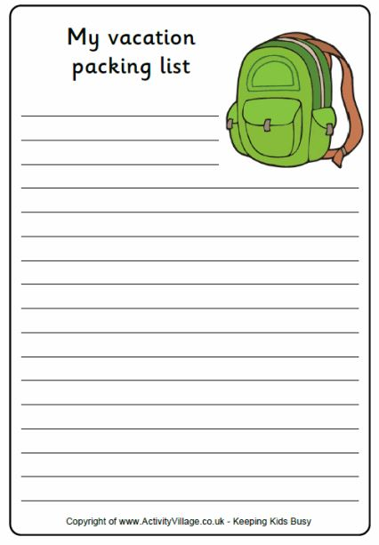 Back to School All About Summer Worksheet