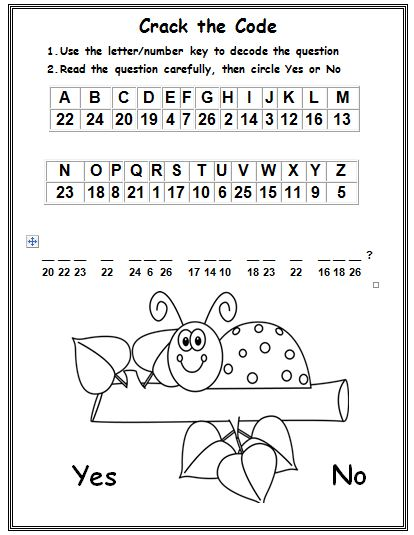 Phonics Cryptogram 3 With CVC Words