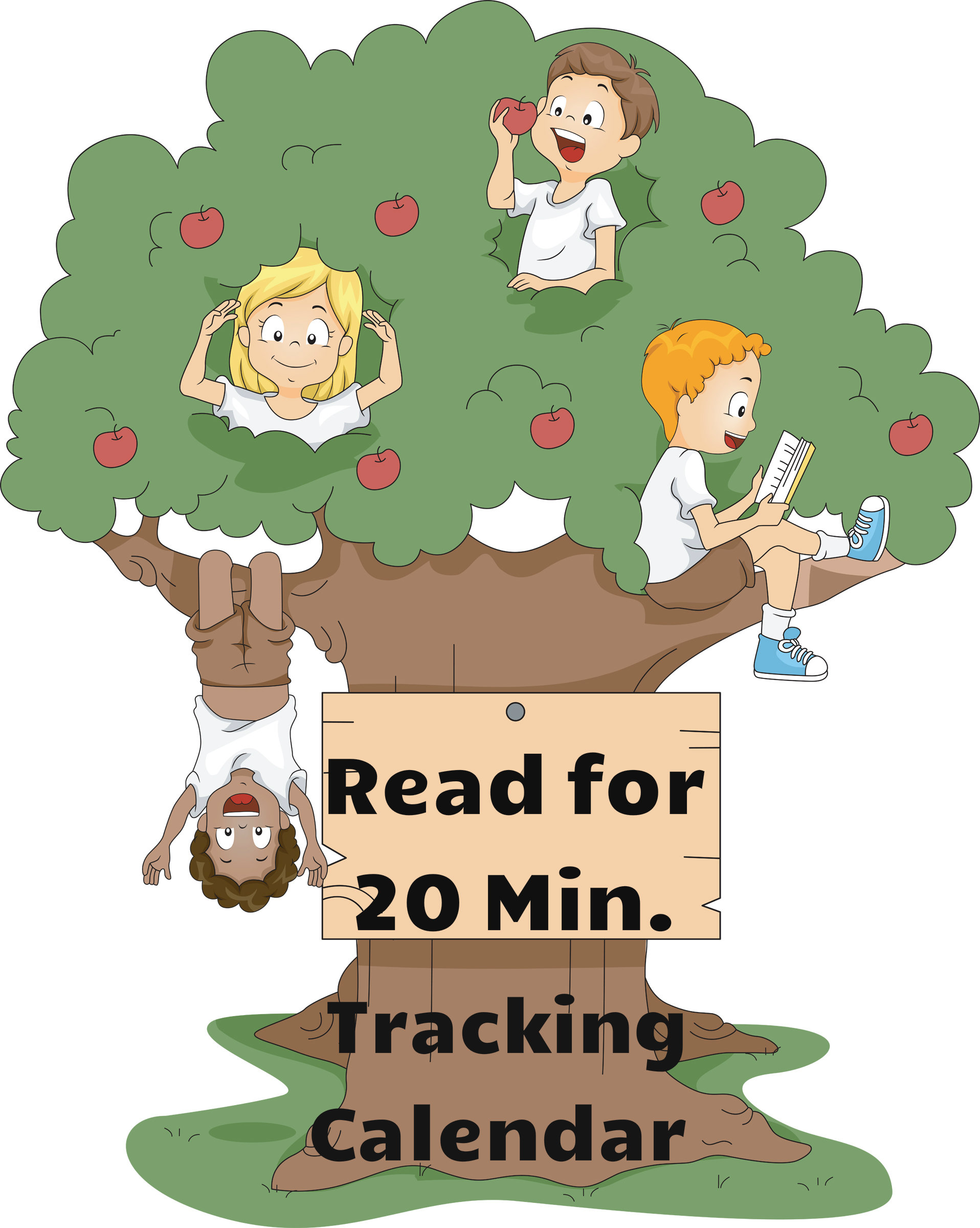 Read for 20 minutes coloring/tracking calendar