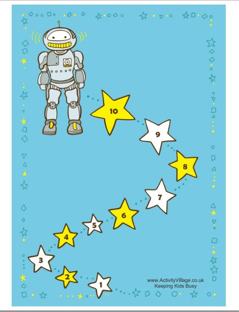 Robot Reward Chart colored
