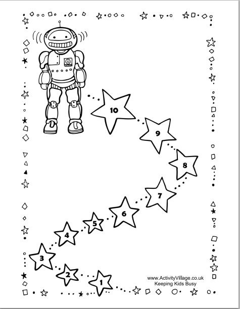 Robot Reward Chart BW