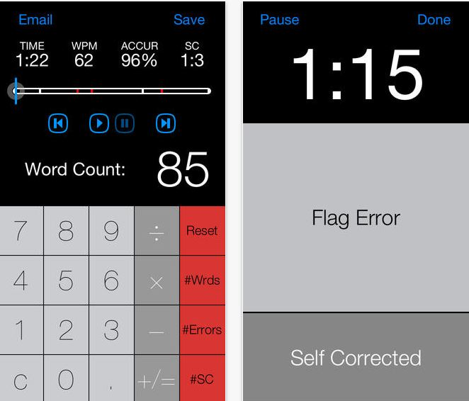 Running record calculator app