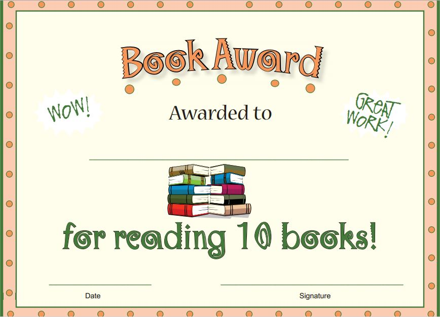 Ten Books Reading Award