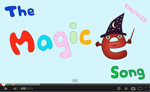 The Magic E Song