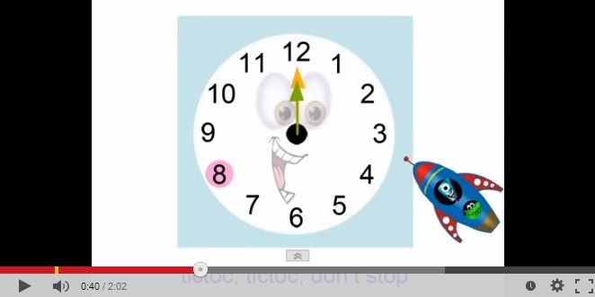 Cute video to teach hours and minutes