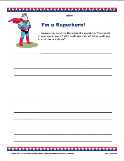 Writing Prompt I Am a Superhero