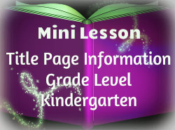 Title Page Information Lesson