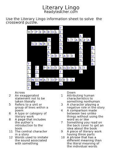 Back To Free Crossword Puzzles Crosssword Puzzle With Answer Key