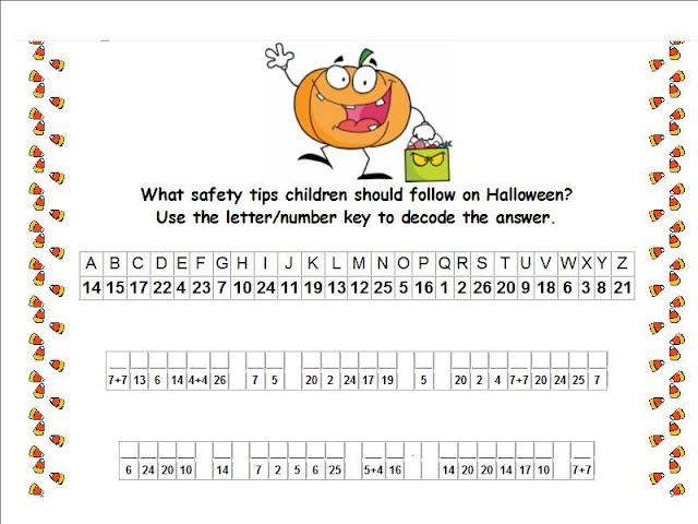 photograph regarding Printable Cryptogram Puzzles identify Halloween Security Strategies (Cryptogram Puzzle)