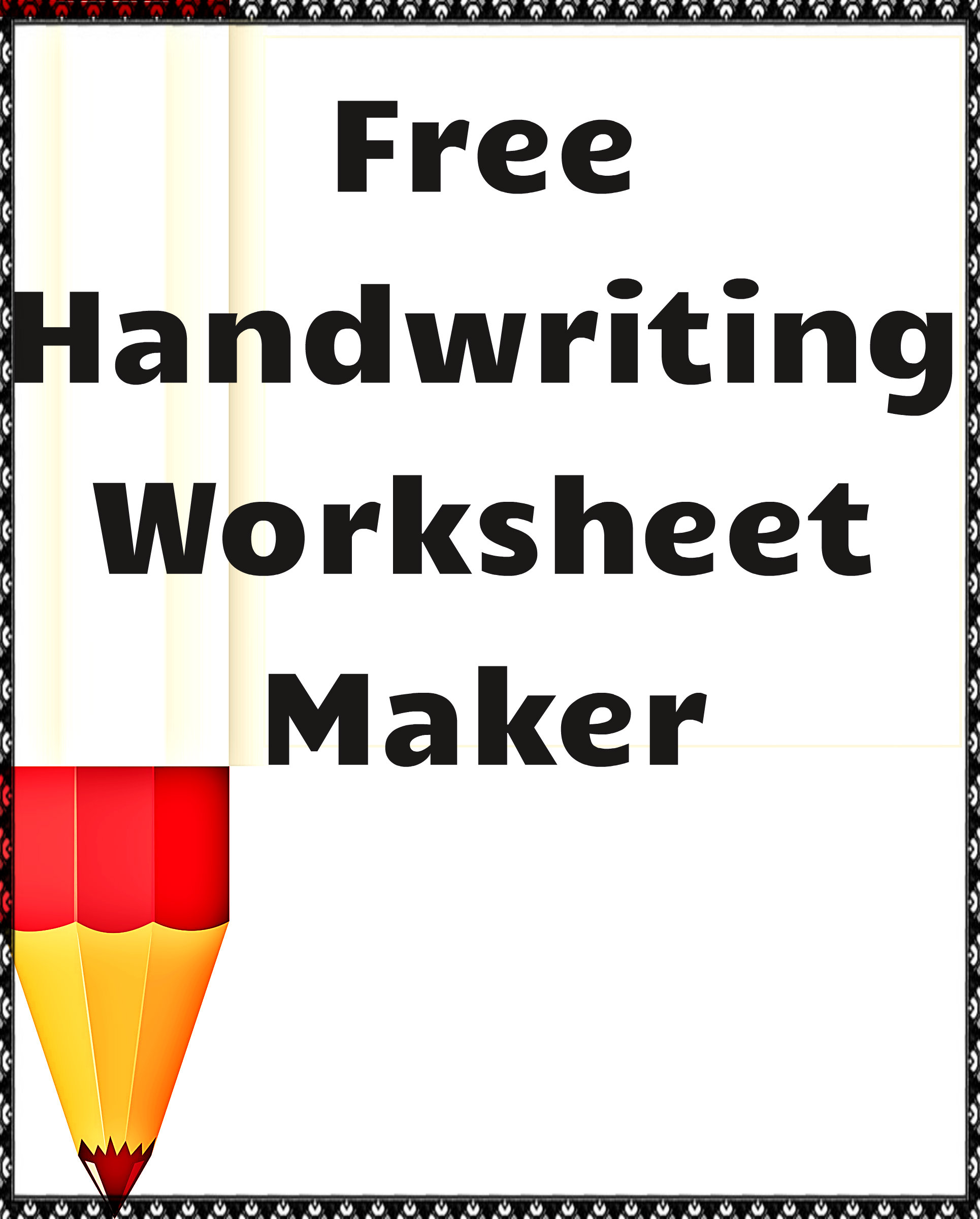 Free handwriting worksheet maker for teachers