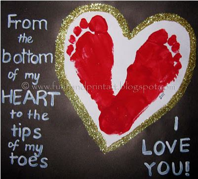 Mother's Day Foot Print Craft