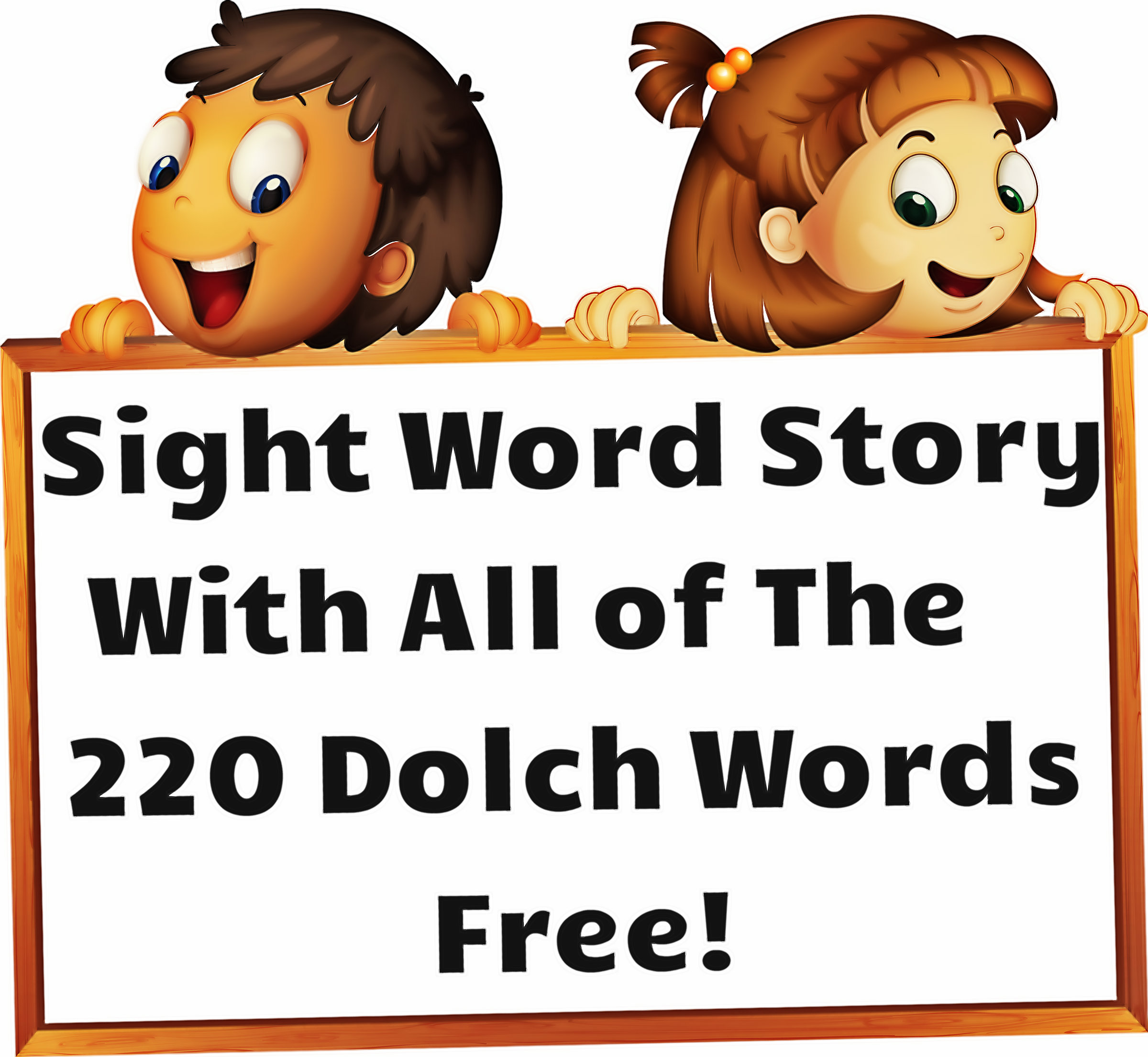 Sight Word Story with all of the 220 Dolch Sight Words